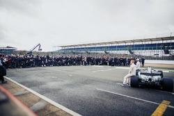 Lewis Hamilton, Mercedes AMG F1, Valtteri Bottas, Mercedes AMG F1 con los medios