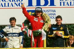 Podium: 1. Alain Prost, McLaren; 2. Nelson Piquet, Brabham; 3. Ayrton Senna, Lotus