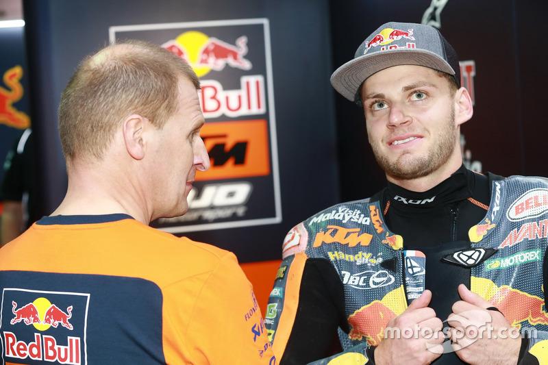 Aki Ajo, Ajo Motorsport director del equipo con Brad Binder, Red Bull KTM Ajo