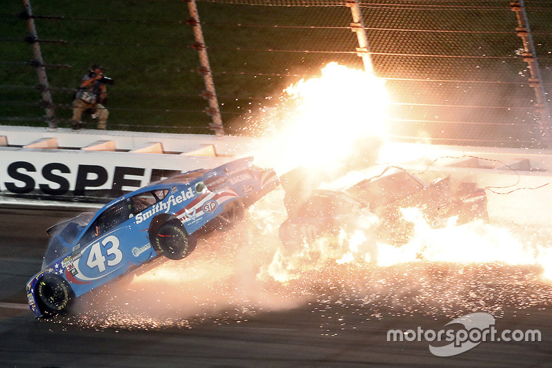 2. Aric Almirola, Richard Petty Motorsports Ford, Danica Patrick, Stewart-Haas Racing Ford, Joey Logano, Team Penske Ford