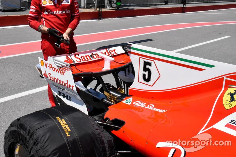 Заднее антикрыло Ferrari SF70H