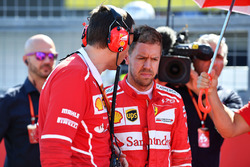 Sebastian Vettel, Ferrari and Riccardo Adami, Ferrari Race Engineer