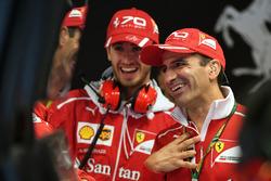 Antonio Giovinazzi, Ferrari Test and Reserve Driver  and Marc Gene, Ferrari
