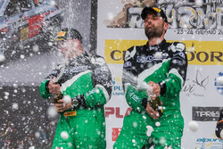 Ivan Ballinari und Paolo Pianca auf podium, Rally Ronde del Ticino