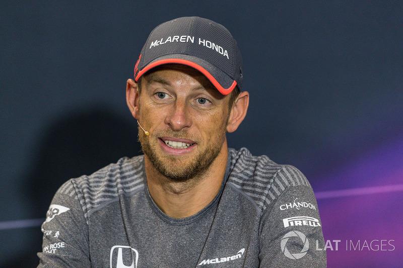 Дженсон Баттон, McLaren, на прес-конференції