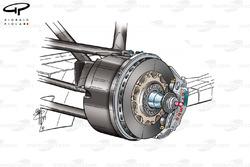 BAR 004 brake caliper position