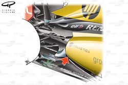 Renault R30 blown diffuser exhaust solutions
