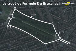 Le tracé du ePrix de Bruxelles