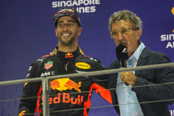 Podium: segundo, Daniel Ricciardo, Red Bull Racing, Eddie Jordan