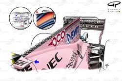 Force India VJM10, nueva cubierta de motor, Singapur GP