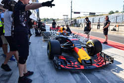 Max Verstappen, Red Bull Racing RB13, avec des capteurs aéro