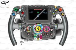 Ferrari SF16-H: Lenkrad von Sebastien Vettel