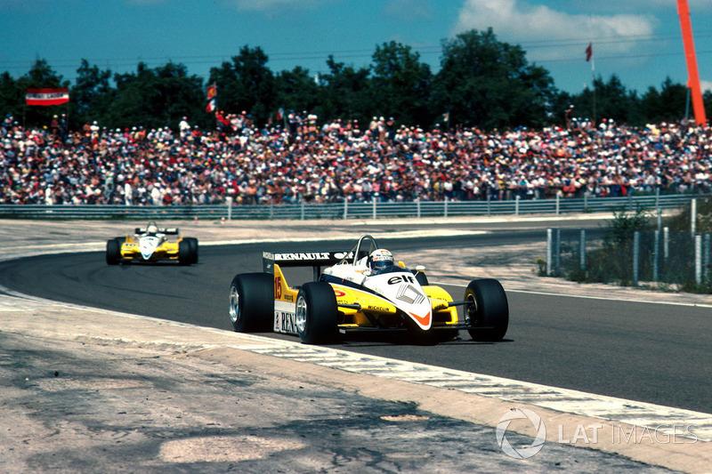 2º Alain Prost, Renault RE30B, Dijon 1982. Tiempo: 1:01.380