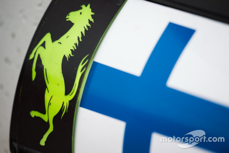 Pit board para Kimi Raikkonen, Ferrari