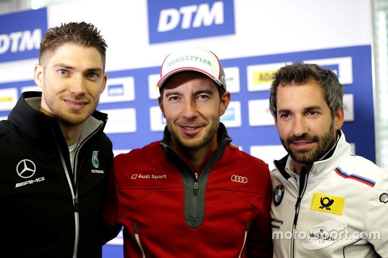 Press Conference, Edoardo Mortara, Mercedes-AMG Team HWA, Mercedes-AMG C63 DTM, Mike Rockenfeller, A