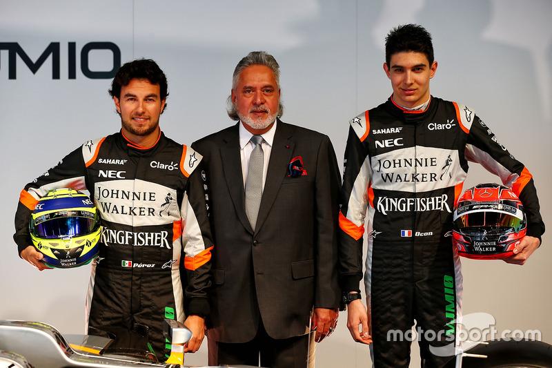 Серхіо Перес, Sahara Force India F1, власник Sahara Force India F1 Team Віджей Маллья, Естебан Окон, Sahara Force India F1 Team