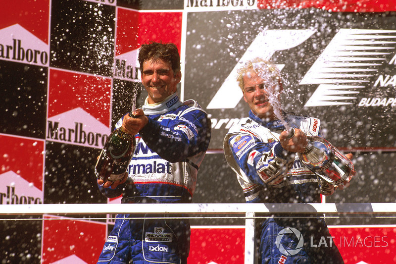 1. Jacques Villeneuve, Williams; 2. Damon Hill, Arrows