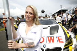 Grid girl of #22 ROWE Racing, BMW M6 GT3: Klaus Graf, Richard Westbrook, Nicky Catsburg, Markus Palttala