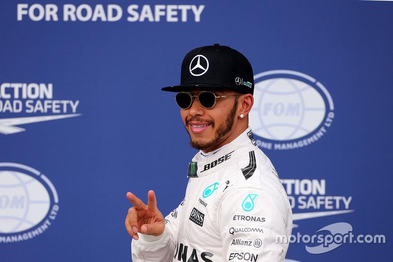 50ste pole voor Hamilton