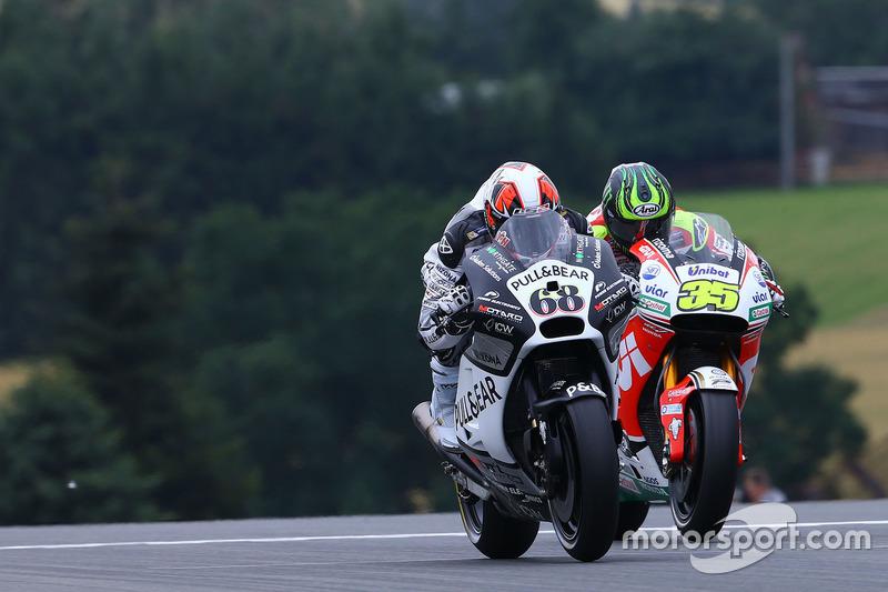 Yonny Hernandez, Aspar MotoGP Team und Cal Crutchlow, Team LCR Honda