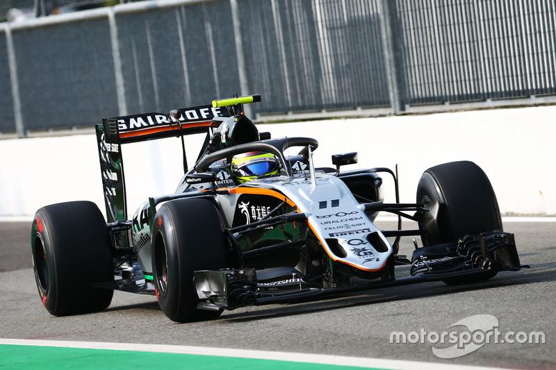 Sergio Perez, Sahara Force India F1 VJM09 con il dispositivo Halo