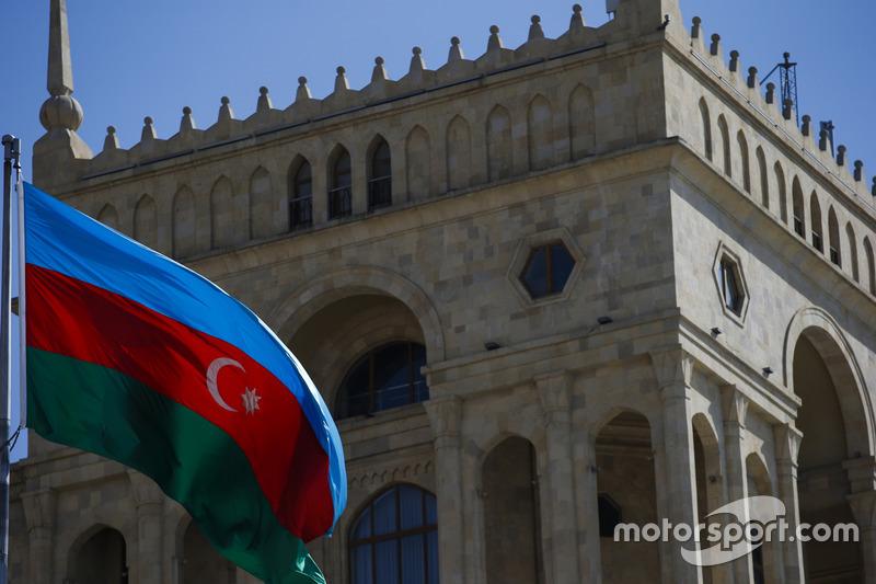 La bandera de Azerbaiyán