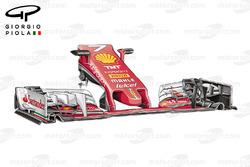 Nouveau museau, Ferrari SF16-H, GP de Malaisie