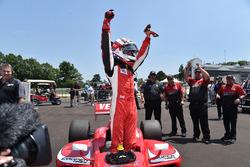 Race winner Zach Veach, Belardi Auto Racing