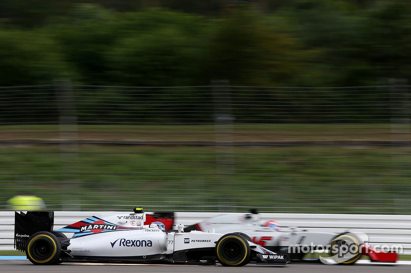 Valtteri Bottas, Williams F1 Team; Romain Grosjean, Haas F1 Team