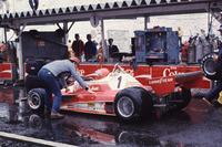 Niki Lauda, Ferrari berhenti akibat hujan deras