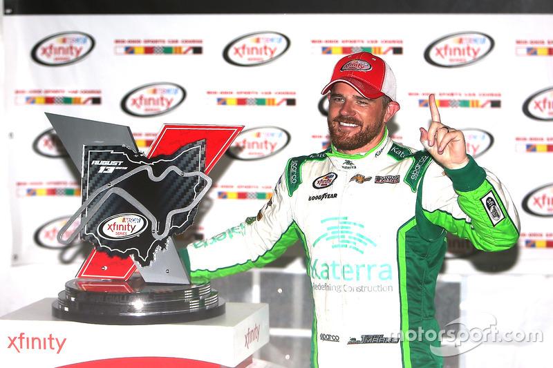 Il vincitore della gara Justin Marks, Chip Ganassi Racing Chevrolet