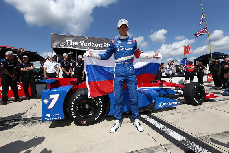 Polesitter Mikhail Aleshin, Schmidt Peterson Motorsports Honda