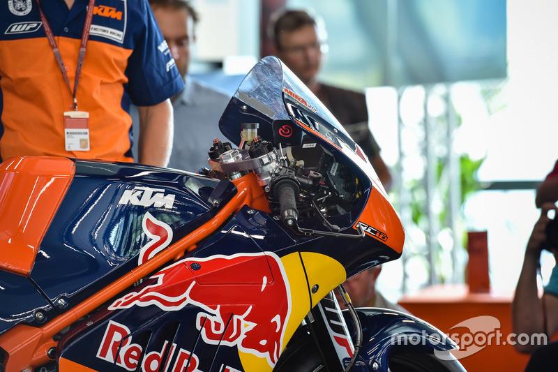 La moto KTM MotoGP, detalle