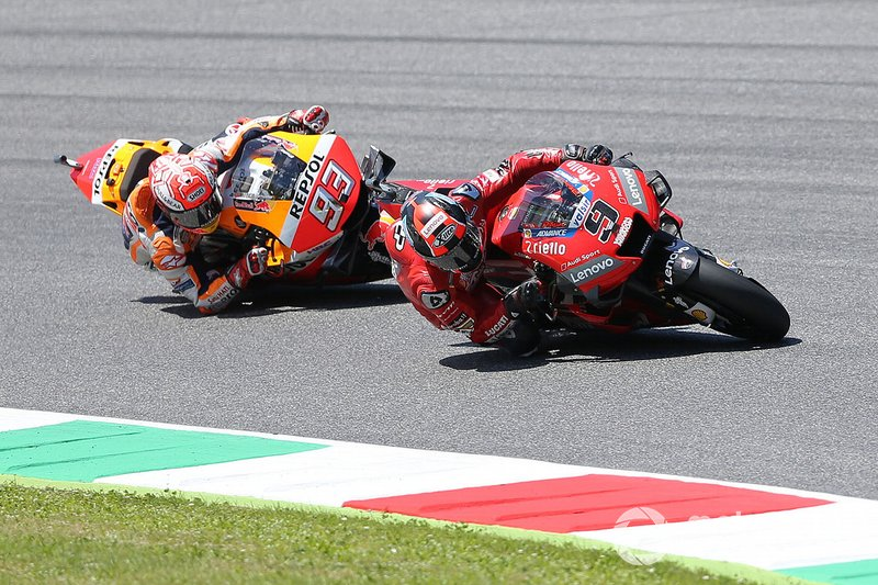 Marc Marquez, Repsol Honda Team & Danilo Petrucci, Ducati Team