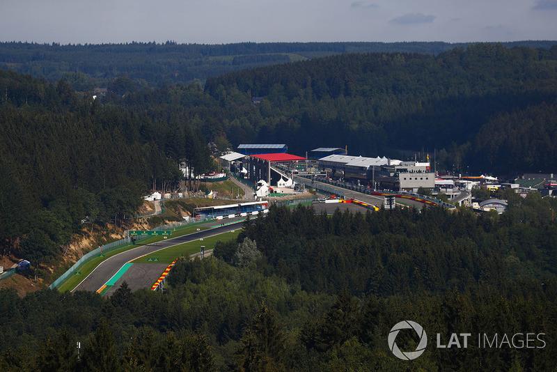 Vue d'ensemble du circuit de Spa-Francorchamps
