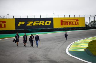 Esteban Ocon, Force India, walks the circuit