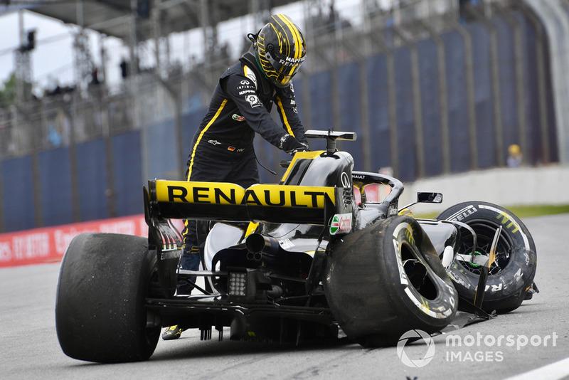 Nico Hulkenberg, Renault Sport F1 Team R.S. 18 choca en la PL2