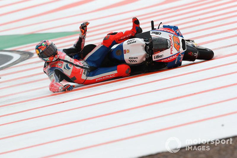 Jack Miller, Pramac Racing, tersungkur