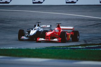 Michael Schumacher, Ferrari F1-2000, David Coulthard, McLaren MP4/15 Mercedes