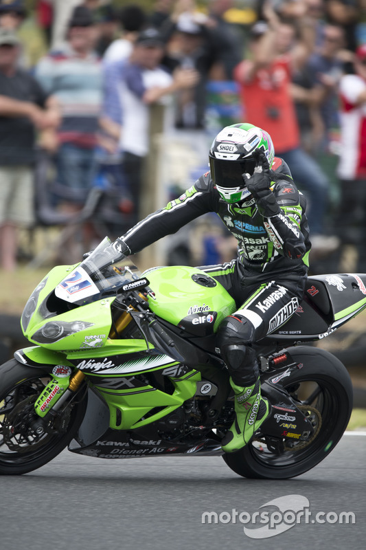 Winnaar Randy Krummenacher, Puccetti Racing Kawasaki