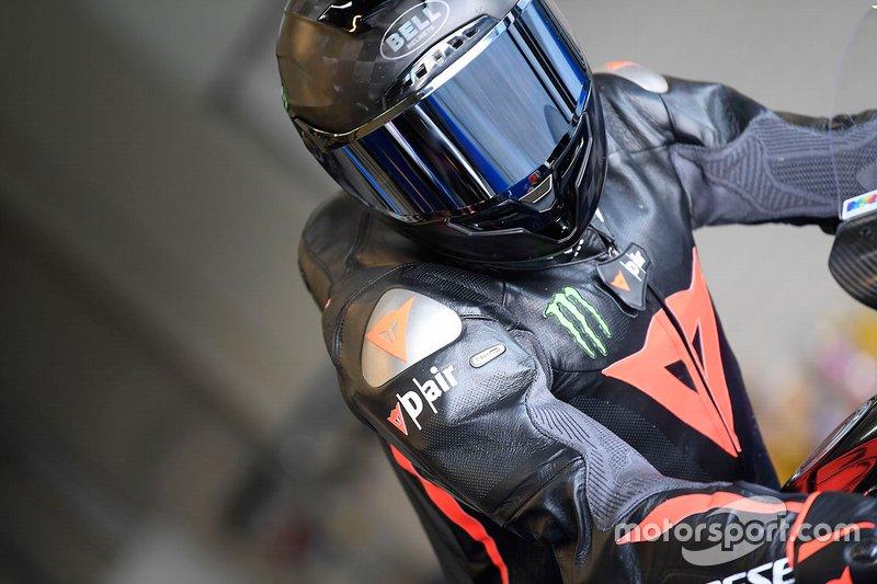 Lewis Hamilton tests the Yamaha Superbike