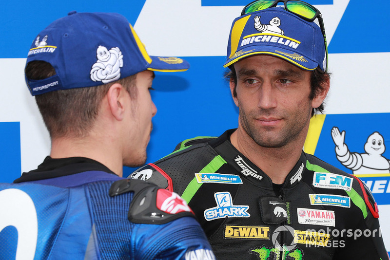 Secondo Maverick Viñales, Yamaha Factory Racing, terzo Johann Zarco, Monster Yamaha Tech 3