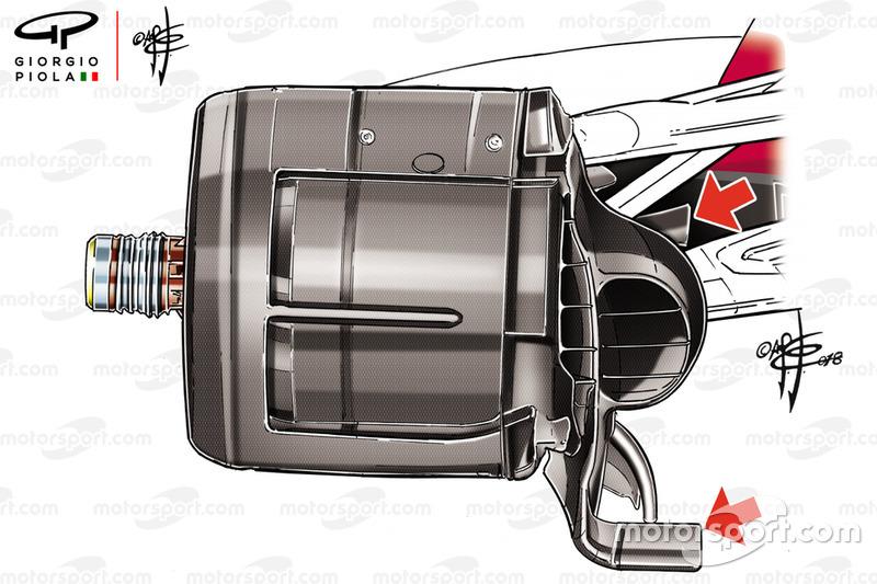 Узел крепления переднего колеса Ferrari SF71