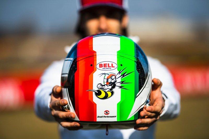 Il casco di Antonio Giovinazzi