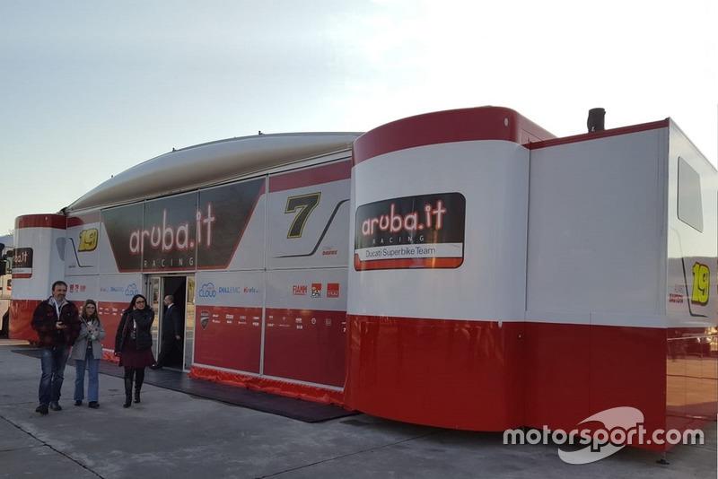 La sede della presentazione del Team Aruba.it Racing-Ducati SBK