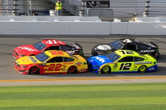 Daniel Suarez, Stewart-Haas Racing, Ford Mustang Haas Automation Joey Logano, Team Penske, Ford Mustang Shell Pennzoil Ryan Blaney, Team Penske, Ford Mustang Menards/Peak Kevin Harvick, Stewart-Haas Racing, Ford Mustang Busch Beer Car2Can