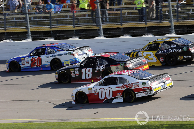 Ryan Preece, Joe Gibbs Racing Toyota, Kyle Benjamin, Joe Gibbs Racing Toyota, Cole Custer, Stewart-Haas Racing Ford