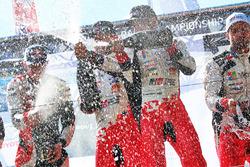 Podium: winners Esapekka Lappi, Janne Ferm, Toyota Racing, second place Elfyn Evans, Daniel Barritt, M-Sport, third place Juho Hänninen, Kaj Lindström, Toyota Racing
