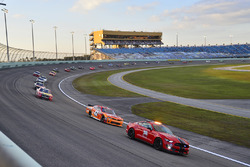 The field follows the pace car