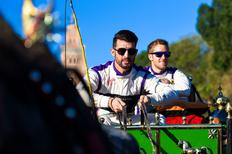 | Photographer: Dan Bathie| Event: Marrakesh ePrix| Circuit: CIRCUIT INTERNATIONAL AUTOMOBILE MOULAY EL HASSAN| Location: Marrakesh| Series: FIA Formula E| Season: 2016-2017| Country: MA| Driver: Sam Bird| Team: DS Virgin Racing| Number: 2| Car: Virgin DSV-02| |Driver: Jose Maria Lopez| Team: DS Virgin Racing| Number: 37|| Car: Virgin DSV-02|